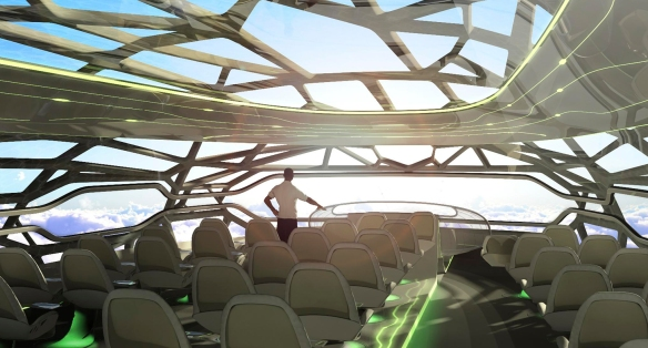 The concept plane by Airbus to be made with a 3D printer in 2050, © Airbus S.A.S 2011